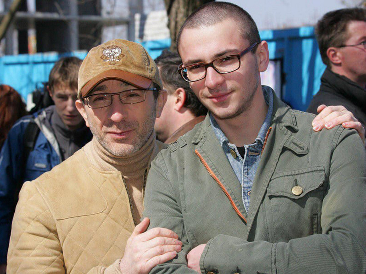 Кернес с сыном Даниилом. Фото: ukraine.fakty.ua
